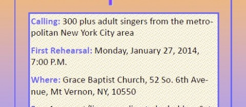 Come Sing in the Choir!